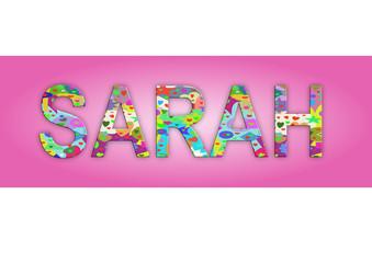 Vorname Sarah, Grafik