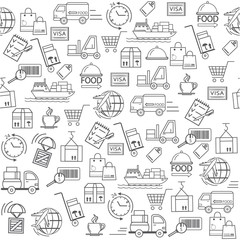 seamless pattern food delivery