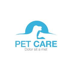 cat dog pet logo icon