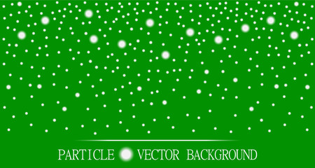 Abstract falling snow particles burgundy green background. Style background for presentation, cards, scientific and jewelry design. Vector illustration