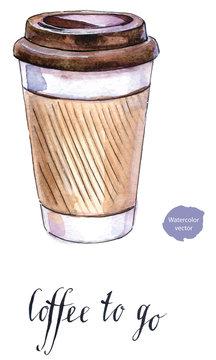 Coffee in blank craft take away cup