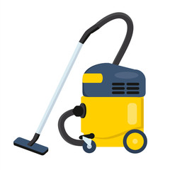 Vacuum cleaner vector illustration. Hoover icon. Cleaning machin