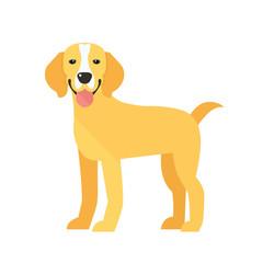 Happy Dog Vector Illustration