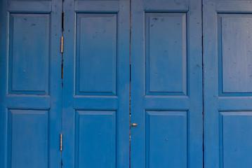old blue wood door