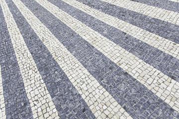 Mosaic urban street