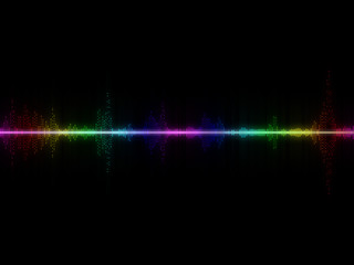 Abstract Colorful Music Equalizer Background.