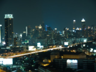 Abstract Blur Night City Light Background. Cityscape background.