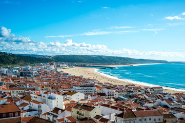 Nazare, a surfing paradise town - Nazare, Portugal