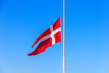 Wall Mural - Dänische Flagge im Wind