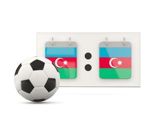 Flag of azerbaijan, football with scoreboard