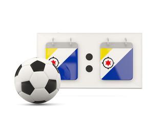 Flag of bonaire, football with scoreboard