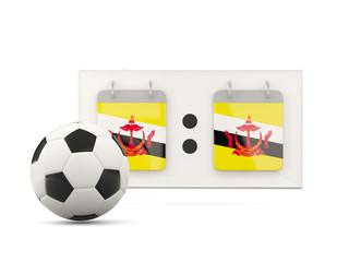 Flag of brunei, football with scoreboard