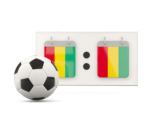 Flag of guinea, football with scoreboard