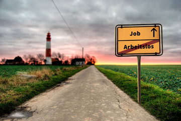 Schild 124 - Job