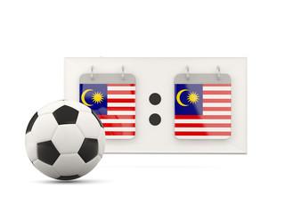 Flag of malaysia, football with scoreboard