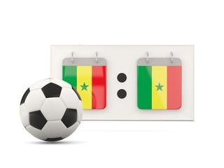 Flag of senegal, football with scoreboard