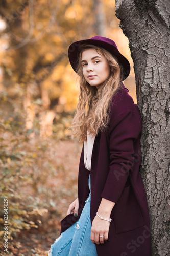 Beautiful Teen Girl 14 16 Year Old Wearing Stylish Autumn