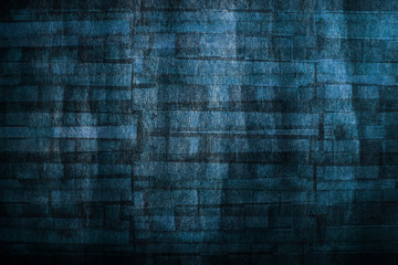 Abstract and Mysterious Dark Blue Vintage Texture Background