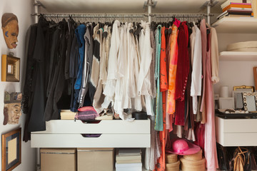 Interior, wardrobe of a bedroom