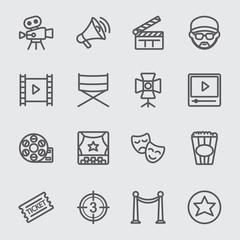 Film industry line icon