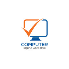 Computer Creative Concept Logo Design Template