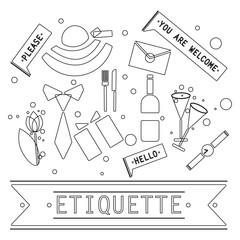 The elements of speech etiquette.