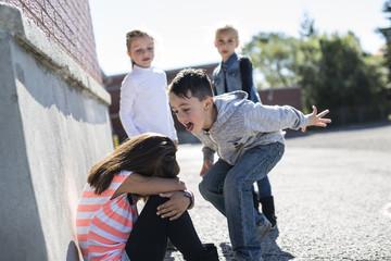 Elementary Age Bullying in Schoolyard