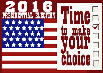 2016 Presidential Election Banner.