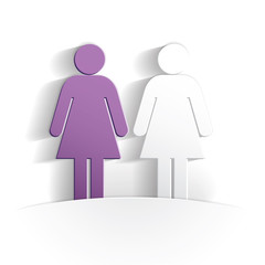 women paper icon