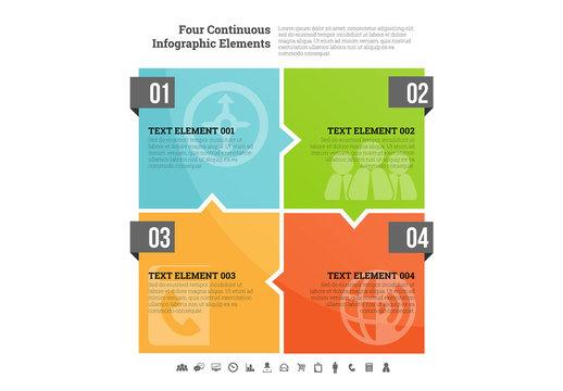 Interlocking Squares Infographic