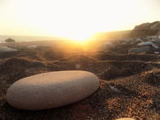 Pebble at sunset.