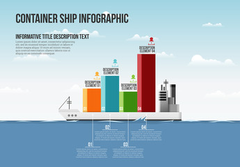 Shipping Container Bar Graph Infographic