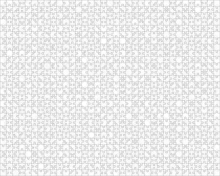 1000 Puzzle Pieces Vector Template