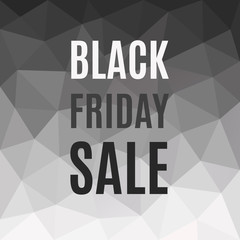Polygonal Banner Black Friday Sale