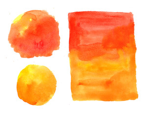 Illustration watercolor yellow background