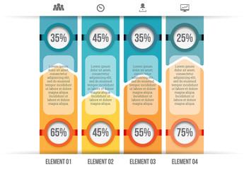 Positive Negative Bar Graph Infographic