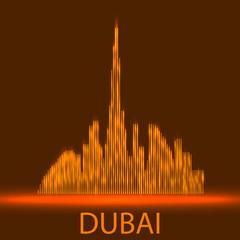 Technology image of Dubai. The concept vector illustration eps10