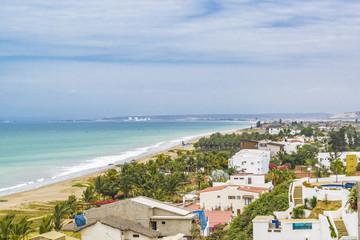 Pacific Coast Aerial View Santa Elena Ecuador