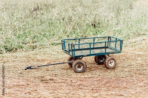 Compact Farm Wagons : Quot small green farm wagon in a rye field stock photo and