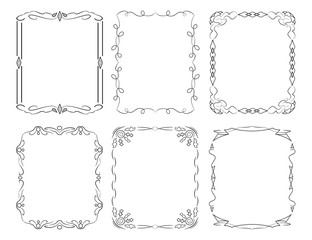 6 rectangular decorative frames