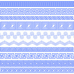 Set of brushes to create the Greek Meander patterns and samples