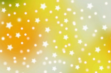 abstract christmas background with snow and stars