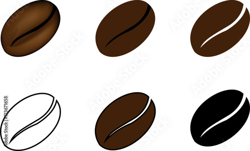coffee bean vector illustration stock image and royalty free rh fotolia com coffee bean victorville coffee bean vector art free
