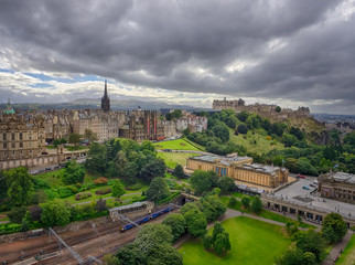 Panoramic view of the centre of the Edinburgh