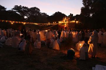 Timkat festival in Gondar, Ethiopia