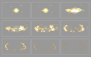 Fog side explosion special effect animation frames