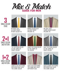 Pattern mix match guide for suit