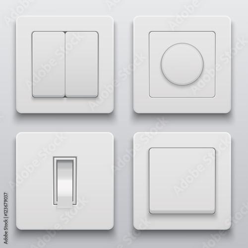 """Vector modern light switch icons set"" fichier vectoriel ..."