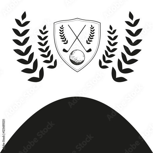 vector of golf club logo template background stock image and royalty free vector files on. Black Bedroom Furniture Sets. Home Design Ideas
