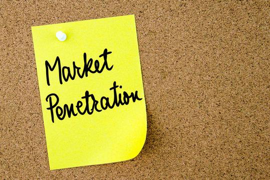 Market Penetration text written on yellow paper note
